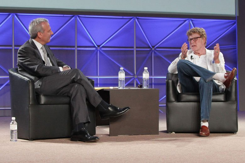 Robert Redford (right) at the World Travel & Tourism Council Americas Summit