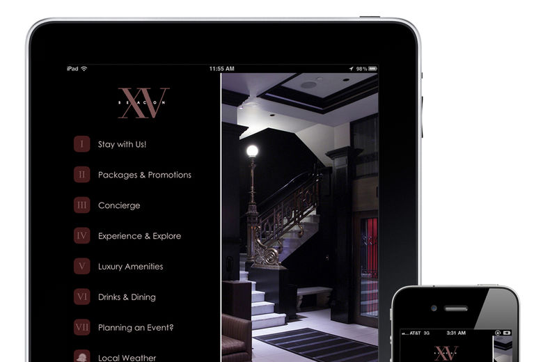 Boston's #1 Hotel, XV Beacon, Launches Industry Leading Guest Services Mobile App, Powered by Runtriz
