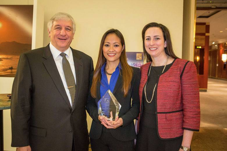 Patricia Gallardo presented with the 2014 Young Leader Award at IHIF