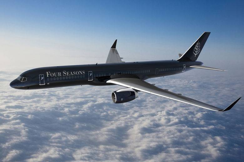 Four Seasons Soars to New Heights with Hotel Industry's First Fully Branded Jet