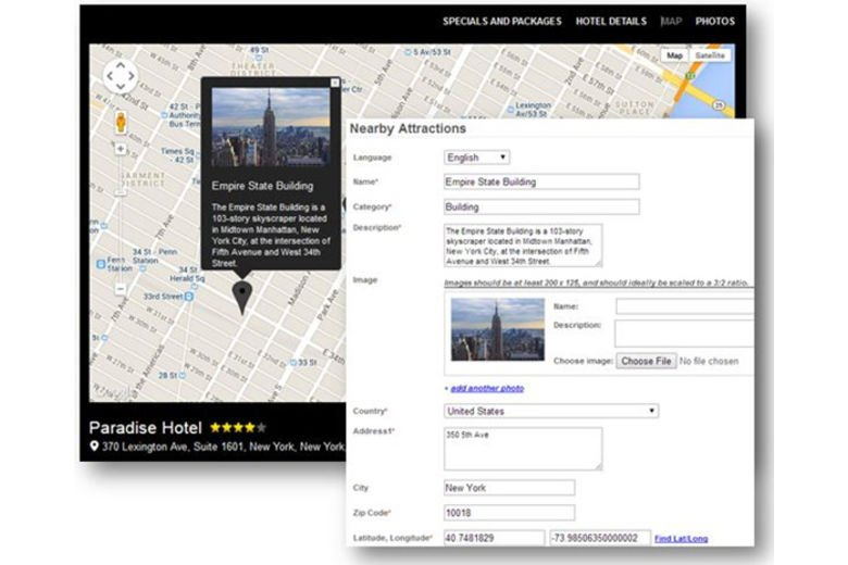 Travel Tripper Integrates Custom Landmarks and Nearby Attractions in the RezTrip CRS's booking engine