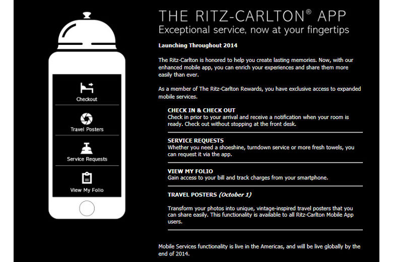 The Ritz-Carlton App Becomes the Travel Accessory You Can't Leave Home Without