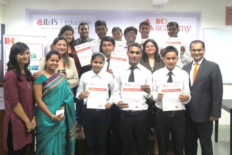 India: Inaugural Class of IHG Academy with IL&FS Graduate