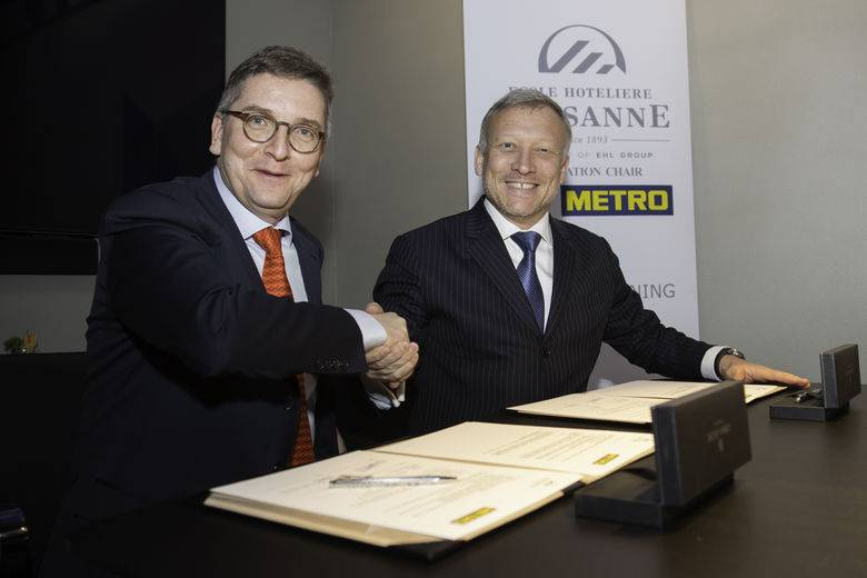 L'Ecole hôtelière de Lausanne and METRO GROUP join forces to create the METRO Chair of Innovation