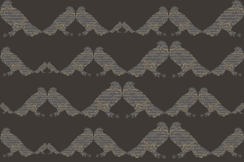 "CUSTOM ""RAVEN"" PATTERN FOR RITZ-CARLTON GUEST SUITE BARS"
