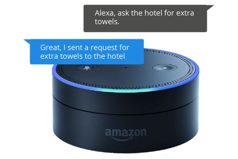 runtriz improves hotel guest experience with amazon echo. Black Bedroom Furniture Sets. Home Design Ideas