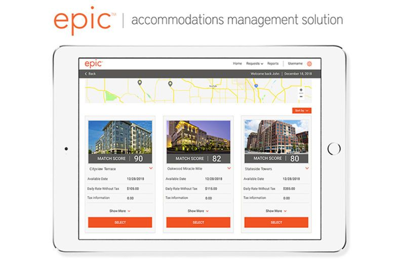 Oakwood Revolutionizes Accommodations Management with its Next-Generation epic™ Solution; New Proprietary Match Score™ Offers Unbiased, Side-by-Side Property Selection