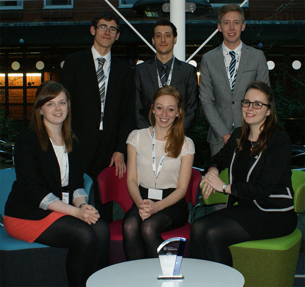 Bournemouth University student hospitality management team wins first international 'Passion4Hospitality Business Management Game 2014'