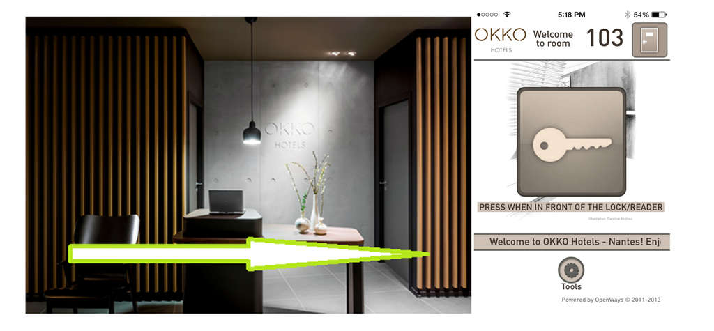 First of Nine OKKO HOTELS in France Now Open with Mobile Key by OpenWays