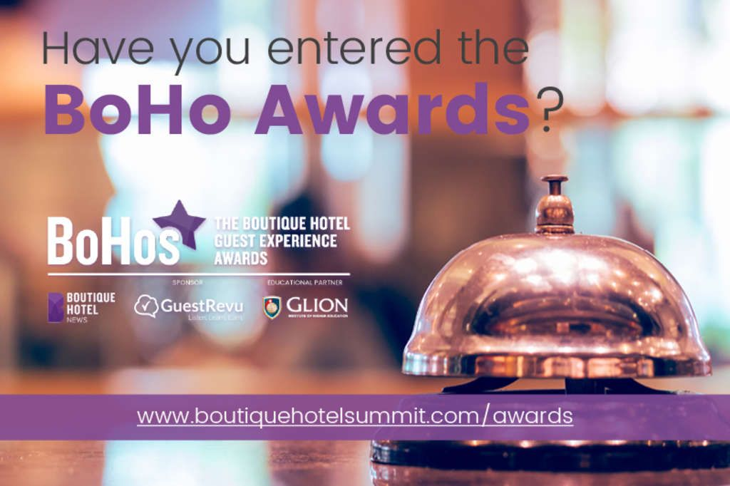 Enter your hotel for in the 2018 BoHo Awards at www.boutiquehotelsummit.com/awards