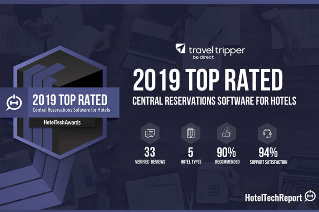 Travel Tripper Named #1 CRS and Top-Rated Booking Engine and