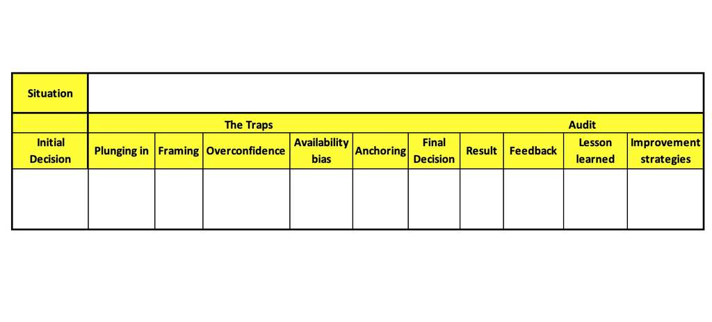 Decision-audit process